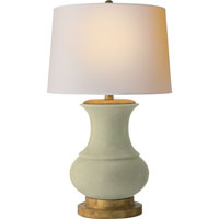Visual Comfort E.F. Chapman Deauville 1 Light Decorative Table Lamp in Celadon Crackle Porcelain CHA8608CC-NP