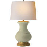 E. F. Chapman Deauville 30 inch 100 watt Celadon Crackle Porcelain Decorative Table Lamp Portable Light