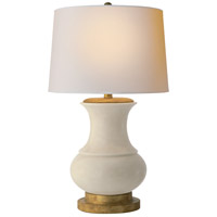 Visual Comfort E.F. Chapman Deauville 1 Light Decorative Table Lamp in Tea Stain Porcelain CHA8608TS-NP