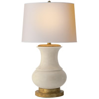 Visual Comfort CHA8608TS-NP E. F. Chapman Deauville 30 inch 100 watt Tea Stain Porcelain Decorative Table Lamp Portable Light