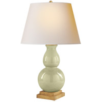Visual Comfort CHA8613CC-NP E. F. Chapman Gourd Form 26 inch 100 watt Celadon Crackle Porcelain Decorative Table Lamp Portable Light