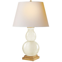 E. F. Chapman Gourd Form 26 inch 75 watt Tea Stain Porcelain Decorative Table Lamp Portable Light