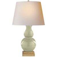 Visual Comfort CHA8615CC-NP E. F. Chapman Gourd Form 35 inch 100 watt Celadon Crackle Porcelain Decorative Table Lamp Portable Light