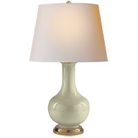 Visual Comfort CHA8617CC-NP E. F. Chapman Narrow Neck 32 inch 100 watt Celadon Crackle Porcelain Decorative Table Lamp Portable Light