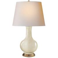 Visual Comfort CHA8617TS-NP E. F. Chapman Narrow Neck 32 inch 100 watt Tea Stain Porcelain Decorative Table Lamp Portable Light