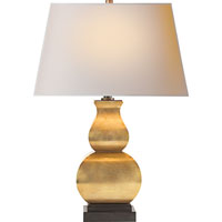 Visual Comfort E.F. Chapman Fang Gourd 1 Light Decorative Table Lamp in Antique-Burnished Brass CHA8627AB-NP