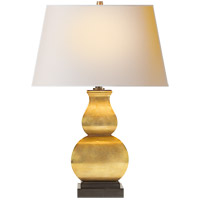 Visual Comfort CHA8627AB-NP E. F. Chapman Fang Gourd 27 inch 100 watt Antique-Burnished Brass Decorative Table Lamp Portable Light