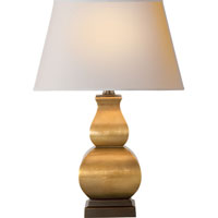 Visual Comfort E.F. Chapman Fang Gourd 1 Light Decorative Table Lamp in Antique-Burnished Brass CHA8628AB-NP