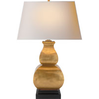 Visual Comfort E.F. Chapman Fang Gourd 1 Light Decorative Table Lamp in Antique-Burnished Brass CHA8629AB-NP