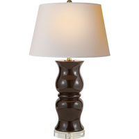 Visual Comfort E.F. Chapman Baluster 1 Light Decorative Table Lamp in Dark Brown Porcelain CHA8640DB-NP