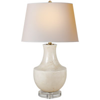 Visual Comfort CHA8642TS-NP E. F. Chapman Arc Pot 29 inch 150 watt Tea Stain Porcelain Decorative Table Lamp Portable Light