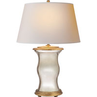 Visual Comfort E.F. Chapman Hurricane 1 Light Decorative Table Lamp in Mercury Glass with Wax CHA8653MG-NP