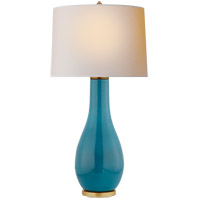 Visual Comfort CHA8655OSB-NP E. F. Chapman Orson 33 inch 150 watt Oslo Blue Table Lamp Portable Light