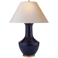 Visual Comfort CHA8661DM-NP E. F. Chapman Lambay 36 inch 100 watt Denim Porcelain Table Lamp Portable Light