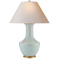 E. F. Chapman Lambay 36 inch 100 watt Ice Blue Porcelain Table Lamp Portable Light