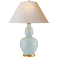 Visual Comfort CHA8663ICB-NP E. F. Chapman Yue 31 inch 100 watt Ice Blue Porcelain Table Lamp Portable Light
