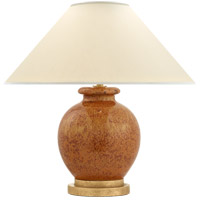 E.F. Chapman Chang 18 inch 60 watt Shanghai Brown Table Lamp Portable Light, E.F. Chapman, Small, Natural Percale Shade