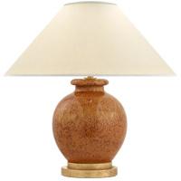 Visual Comfort CHA8677SHB-PL E. F. Chapman Chang 18 inch 60 watt Shanghai Brown Table Lamp Portable Light, E.F. Chapman, Small, Natural Percale Shade