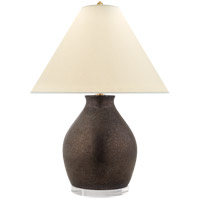 Visual Comfort E.F. Chapman Fantoni 34-inch Table Lamp in Crystal Bronze, Glazed, Vase, Natural Percale Shade CHA8683CBZ-PL