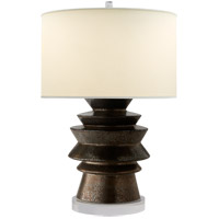 E. F. Chapman Stacked Disk 29 inch 100 watt Crystal Bronze Ceramic Table Lamp Portable Light