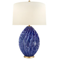 Visual Comfort CHA8697FLB-PL E. F. Chapman Dianthus 32 inch 150 watt Flowing Blue Table Lamp Portable Light, Large