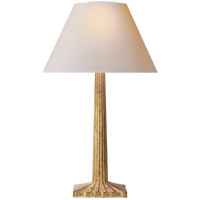 Visual Comfort CHA8707GI-NP E. F. Chapman Strie 30 inch 100 watt Gilded Iron Decorative Table Lamp Portable Light