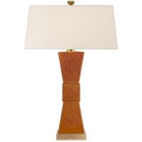 Visual Comfort CHA8728SHB-NP E. F. Chapman Weller 30 inch 150 watt Shanghai Brown Table Lamp Portable Light, E.F. Chapman, Bowtie, Natural Paper Shade