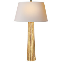 E. F. Chapman Fluted Spire 32 inch 100 watt Gilded Iron with Wax Decorative Table Lamp Portable Light
