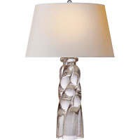 Visual Comfort E.F. Chapman Westport 1 Light Decorative Table Lamp in Crystal with Natural Paper Shade CHA8909CG-NP