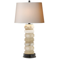Visual Comfort CHA8934ALB-NP E. F. Chapman Oval Stacked 34 inch 150 watt Alabaster Table Lamp Portable Light
