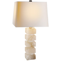 Visual Comfort CHA8947ALB-NP E. F. Chapman Chunky 31 inch 100 watt Alabaster Natural Stone Decorative Table Lamp Portable Light