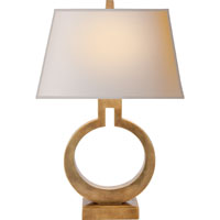 E.F. Chapman Ring 20 inch 75 watt Antique-Burnished Brass Decorative Table Lamp Portable Light in Antique Burnished Brass