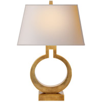 E. F. Chapman Ring 20 inch 75 watt Antique-Burnished Brass Decorative Table Lamp Portable Light in Antique Burnished Brass