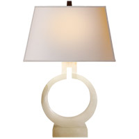 Visual Comfort CHA8969ALB-NP E. F. Chapman Ring 21 inch 75 watt Alabaster Natural Stone Decorative Table Lamp Portable Light