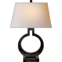 Visual Comfort E.F. Chapman Ring 1 Light Decorative Table Lamp in Bronze with Wax CHA8969BZ-NP