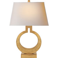 Visual Comfort E.F. Chapman Ring 1 Light Decorative Table Lamp in Gilded Finish CHA8969G-NP