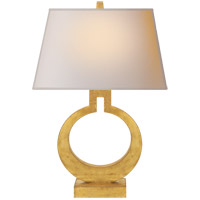 E. F. Chapman Ring 20 inch 75 watt Gilded Finish Decorative Table Lamp Portable Light