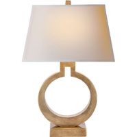 Visual Comfort E.F. Chapman Ring 1 Light Decorative Table Lamp in Antique-Burnished Brass CHA8970AB-NP