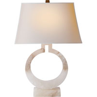 E.F. Chapman Ring 27 inch 100 watt Alabaster Natural Stone Decorative Table Lamp Portable Light