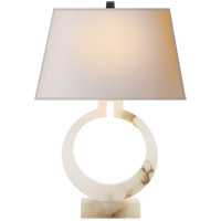 E. F. Chapman Ring 27 inch 100 watt Alabaster Natural Stone Decorative Table Lamp Portable Light