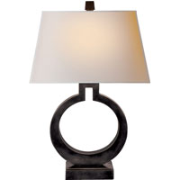 Visual Comfort E.F. Chapman Ring 1 Light Decorative Table Lamp in Bronze with Wax CHA8970BZ-NP