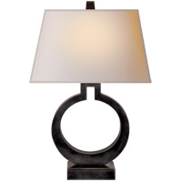 E. F. Chapman Ring 27 inch 100 watt Bronze Decorative Table Lamp Portable Light