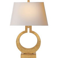 E.F. Chapman Ring 27 inch 100 watt Gilded Finish Decorative Table Lamp Portable Light