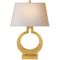 E. F. Chapman Ring 27 inch 100 watt Gilded Finish Decorative Table Lamp Portable Light