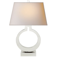 E. F. Chapman Ring 27 inch 100 watt Polished Nickel Decorative Table Lamp Portable Light