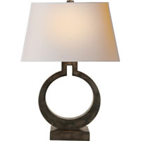 E.F. Chapman Ring 27 inch 100 watt Sheffield Nickel Decorative Table Lamp Portable Light