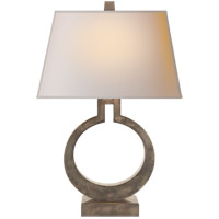 E. F. Chapman Ring 27 inch 100 watt Sheffield Nickel Decorative Table Lamp Portable Light