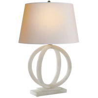 Visual Comfort CHA8974ALB-NP E. F. Chapman Quattro 29 inch 100 watt Alabaster Natural Stone Decorative Table Lamp Portable Light