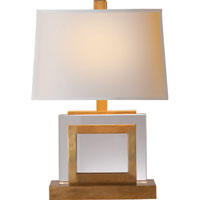 Visual Comfort E.F. Chapman Crystal 1 Light Decorative Table Lamp in Antique-Burnished Brass CHA8980AB-NP