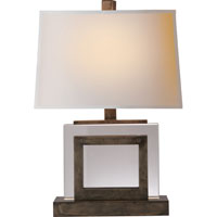 Visual Comfort E.F. Chapman Crystal 1 Light Decorative Table Lamp in Sheffield Nickel CHA8980SN-NP